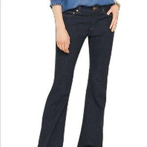 Michael Kors Dark Denim Flared Jeans
